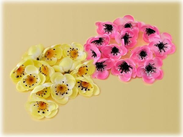 Pfirsichblüten zum Dekorieren und Basteln 24er Set - 2 Varianten