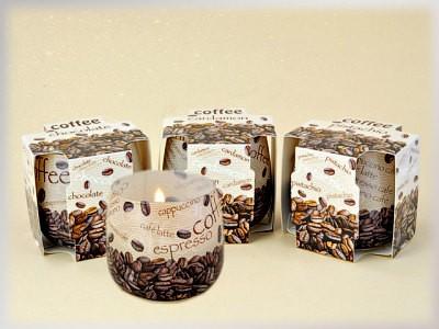 Kerze in Duftglas - Coffee