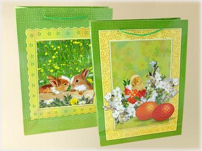Ostertüte 2er Hasen und Küken im Ei A4