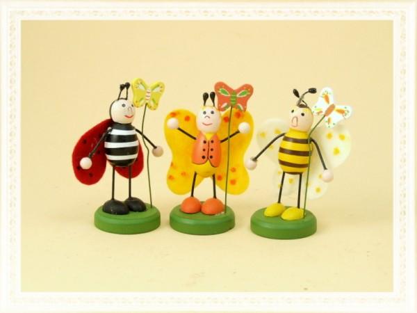 Biene, Marienkäfer & Schmetterling