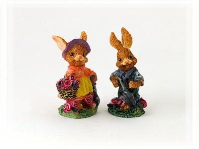 Hasenkinder Gartenarbeiter