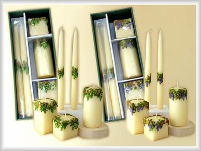 Geschenkpackung Kerzen 5-teiliges Set - Weindekor