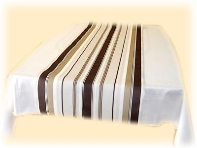 Tischläufer Streifen braun/beige