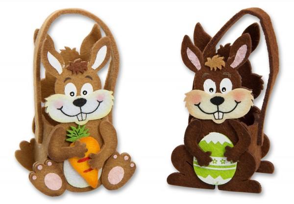 Tasche Hase aus Filz für kleine Geschenke zu Ostern