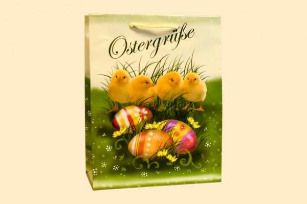 Geschenktüte Küken mit Ostereiern A5