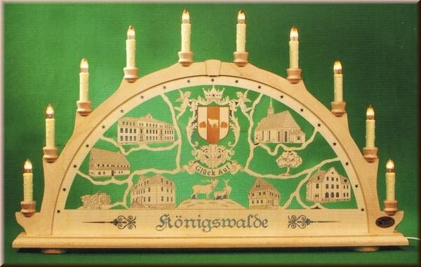 Schwibbogen Königswalde 10-flammig