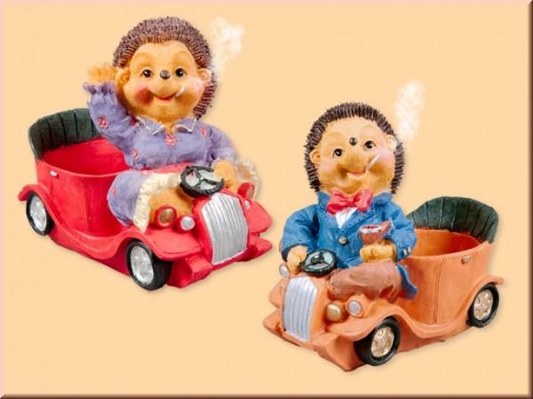 Räuchermecki im Auto mit Pflanzgefäß, Stückpreis
