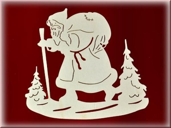 Fensterbild Weihnachtsmann einfach