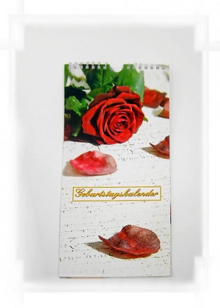Geburtstagskalender rote Rose