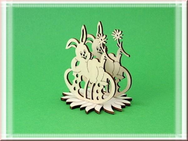 Serviettenthalter Hase liegend auf Osterei