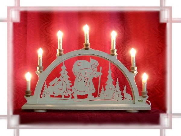 Schwibbogen Weihnachtsmann 7-flammig