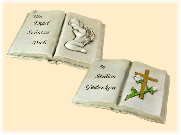 Grab-Deko Buch mit Schrift