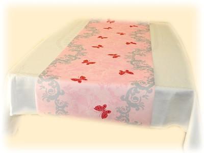 Tischläufer Schmetterlinge auf Rosa